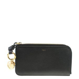 Chloe Alphabet Black Leather Zippered Wallet183417